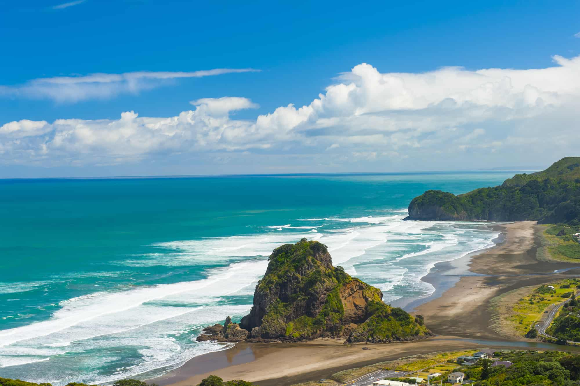 Piha Beach in West Auckland