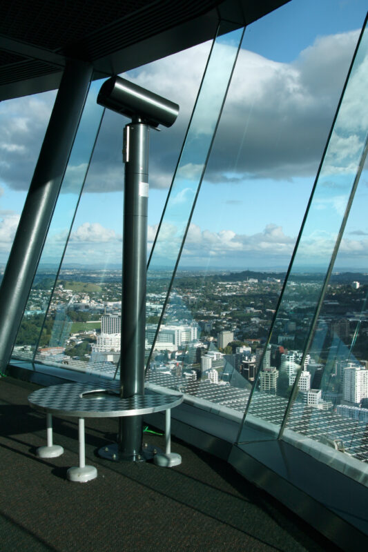 Sky Tower observation deck in Auckland, New Zealand