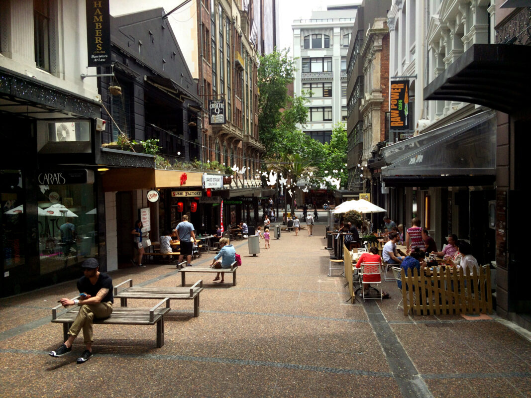 Vulcan Lane in Auckland, New Zealand