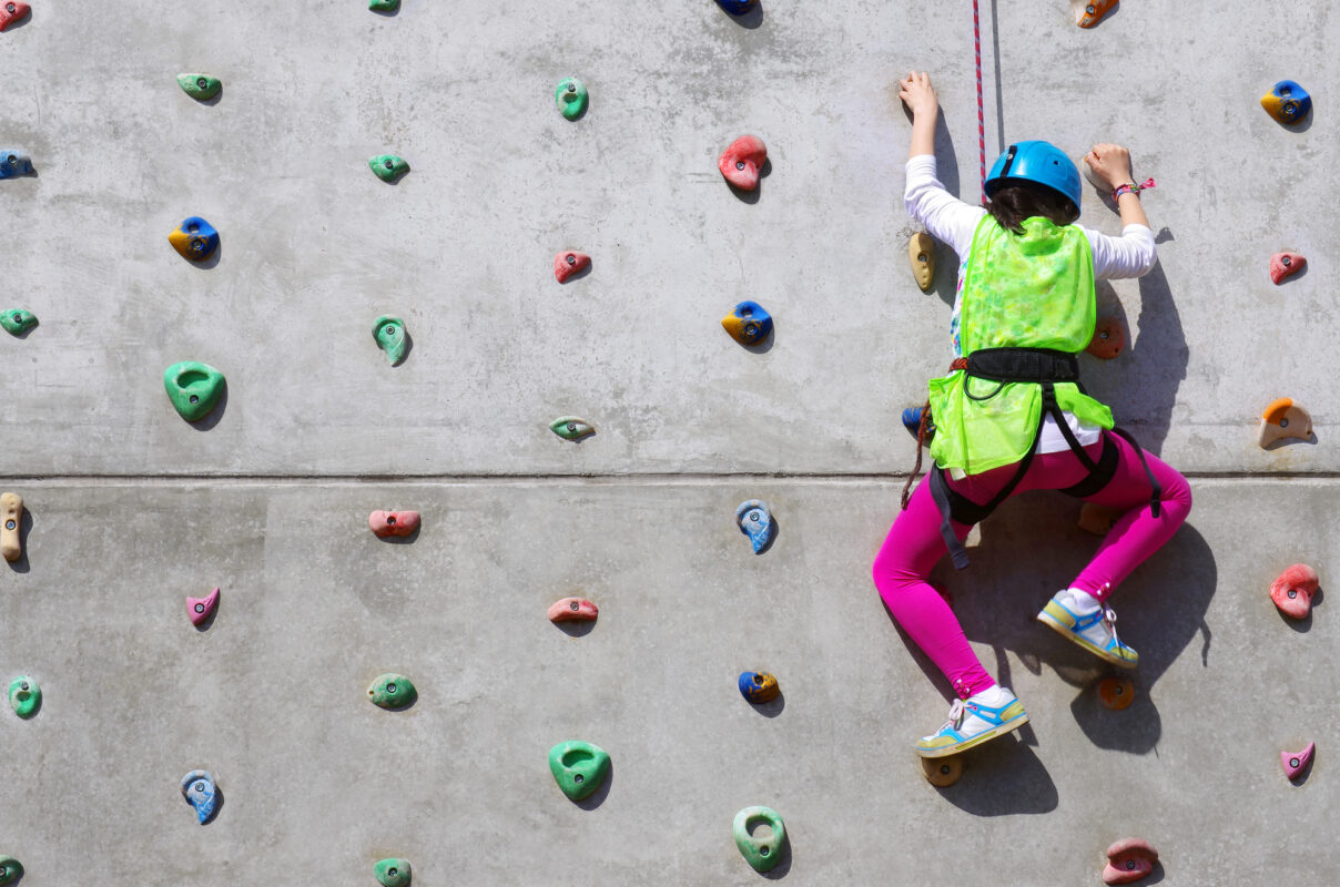 Indoor rock climbing in Auckland